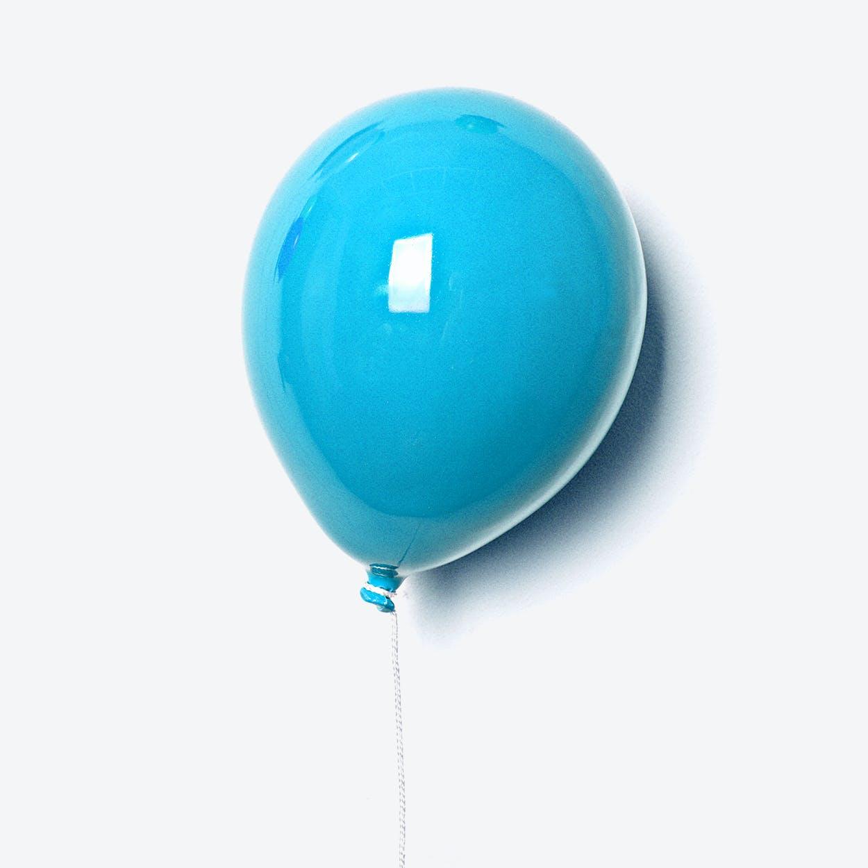 Ceramic Balloon Wall Decor in Sky Blue