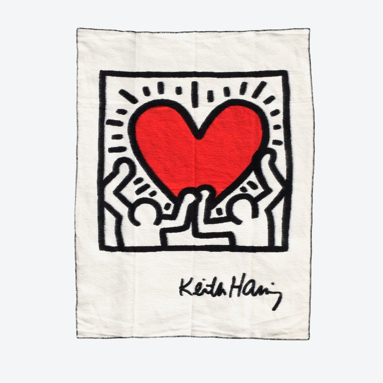 Blanket Men White Heart Blanket
