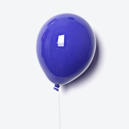 Ceramic Balloon Wall Decor in Blue
