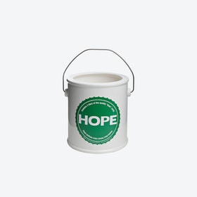HOPE Yes We Can Round Vase in Green