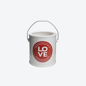 LOVE Yes We Can Round Vase in Red