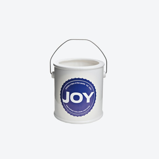 JOY Yes We Can Round Vase in Blue
