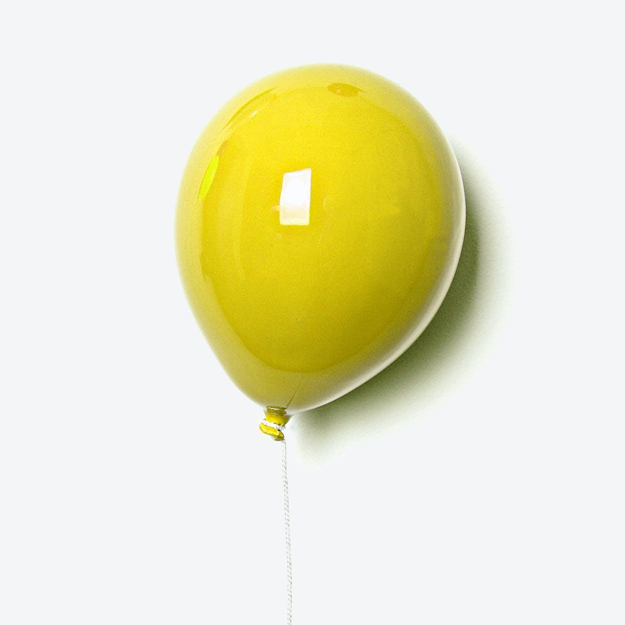 Ceramic Balloon Wall Decor in Yellow
