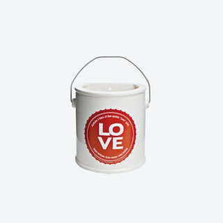 LOVE Yes We Can Half Vase in Red