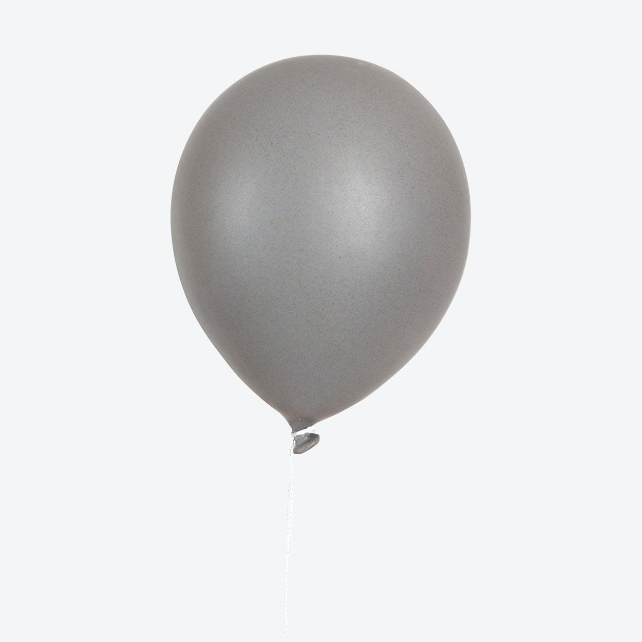 Ceramic Balloon Wall Decor in Grey