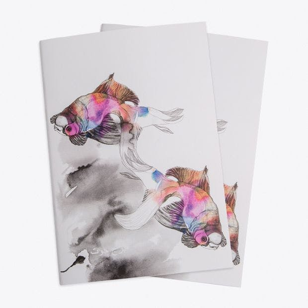 A5 Forever Fish Notebook, Set of 2