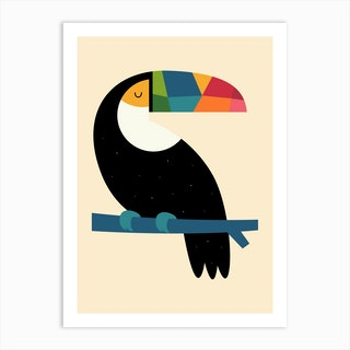 Rainbow Toucan Art Print