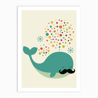 Firewhale Art Print