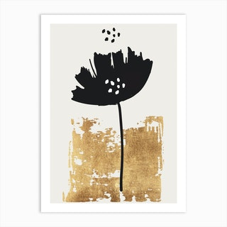 Black Poppy Art Print