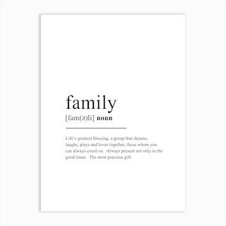 Family Definition Art Print