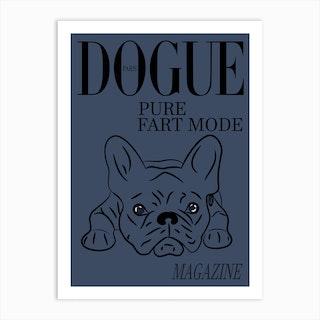 Dogue Magazine Pure Fart Mode Edt Blue Art Print