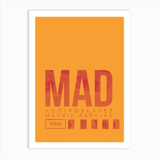 Mad Airport Code Art Print