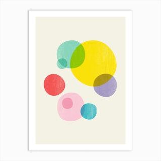 Rainbow Bubbles Iii Art Print