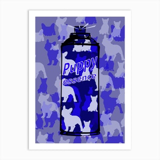 Puppy Essence Blue Edt Art Print