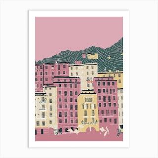 Camogli Italy Coast Art Print