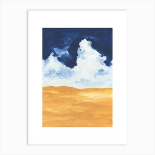 Horizon Abstract Clouds Art Print