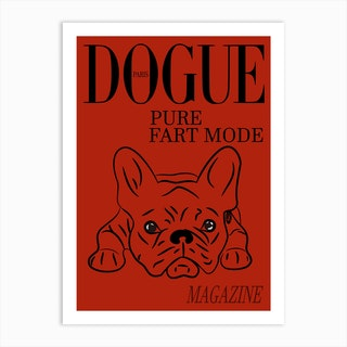 Dogue Magazine Pure Fart Mode Edt Red Art Print