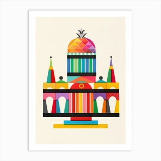 Pineapple Cathedral Art Print