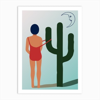 Mexican Moon Art Print