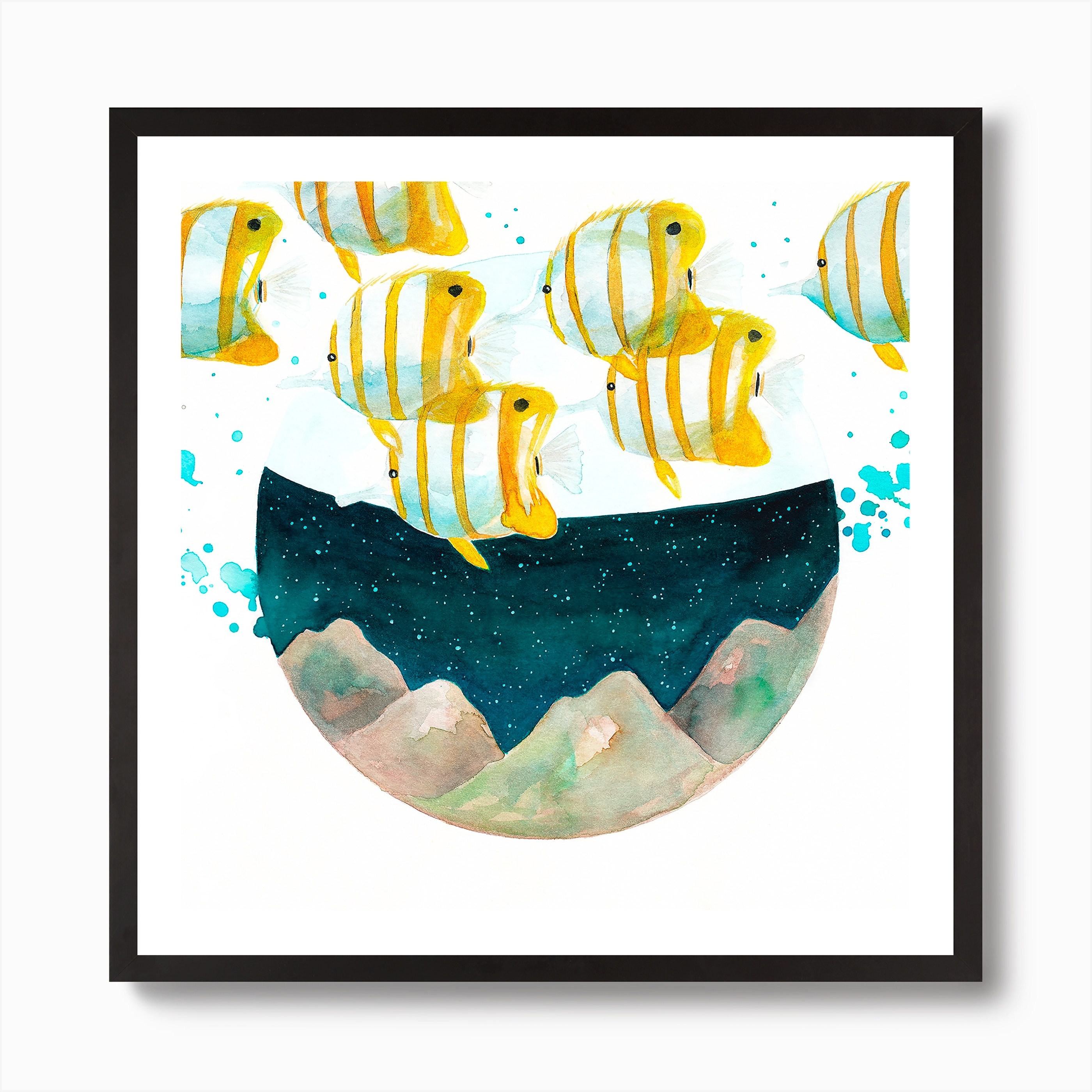 Tropical Fishes Art Print By The Cosmic Whale Fy