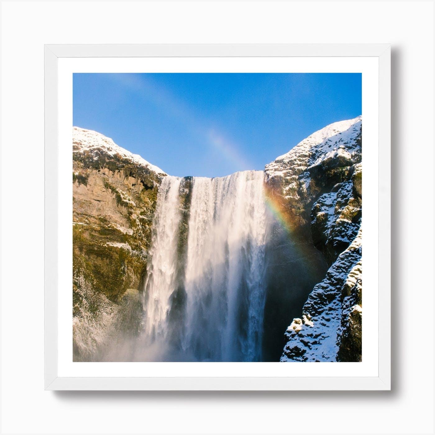 Iceland Art Print Home Decor Wall Art Poster C Gullfoss Big Waterfall