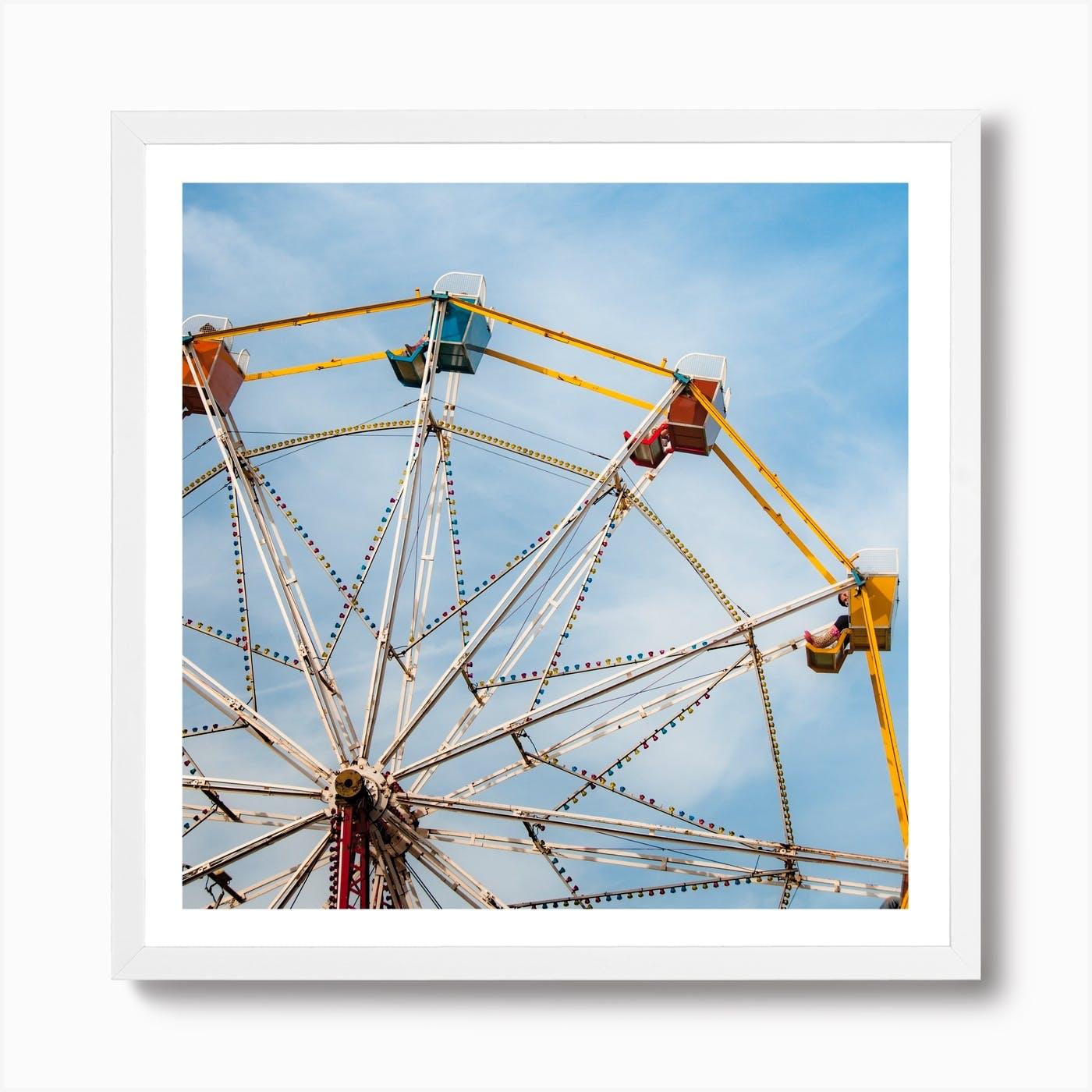 Contemporary Ferris wheel unframed art print  Abstract art poster   Contemporary art print  Typography art poster  Affordable art print