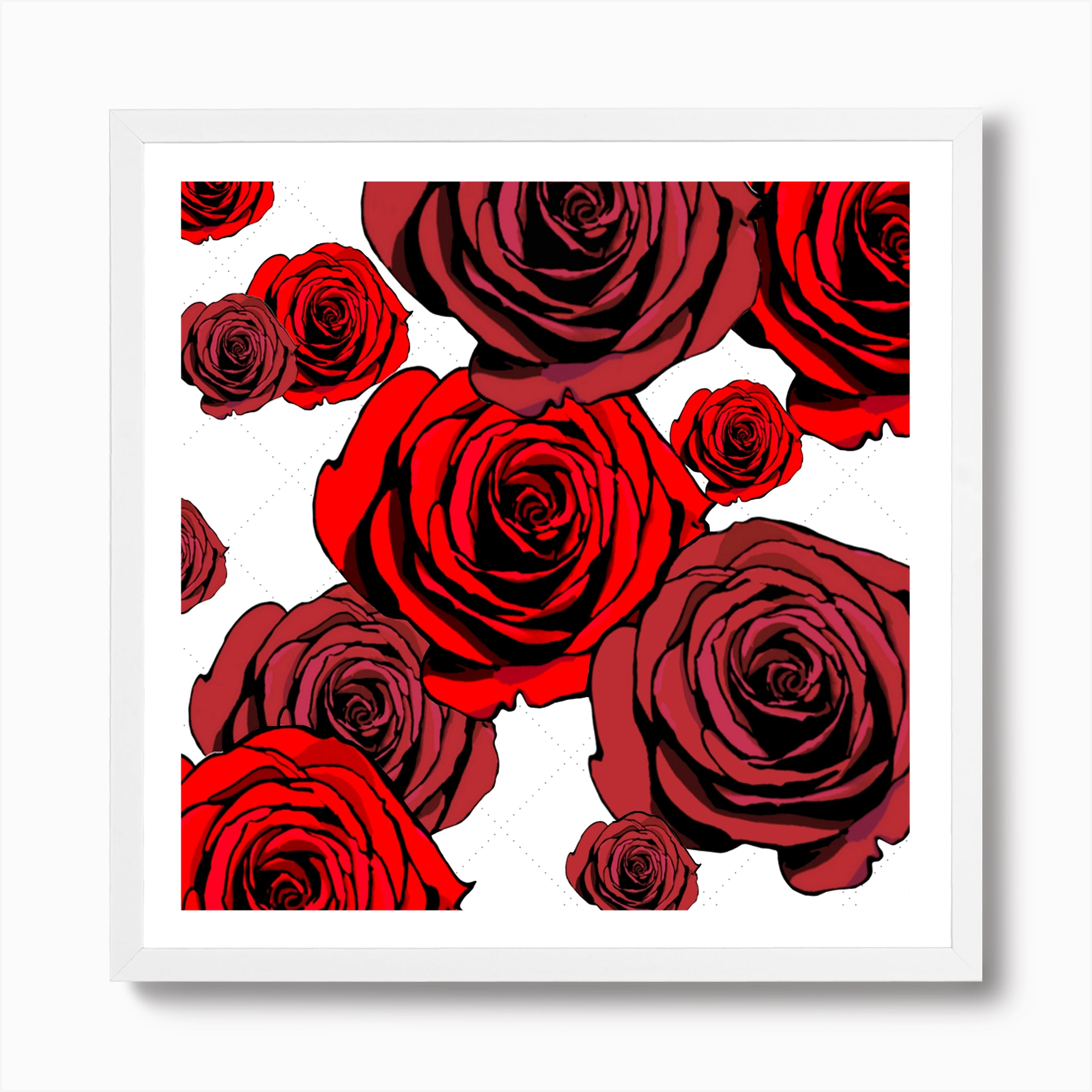 """12/""""x20/""""Red Rose Happy Day Home Decor Picture HD Canvas prints Wall art Painting"""