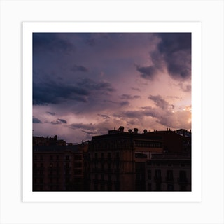 Barcelona Sunset II Art Print