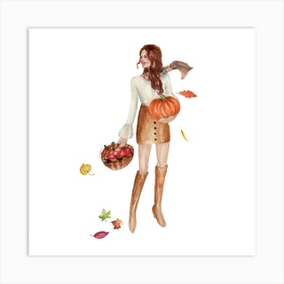 Autumn Square Art Print