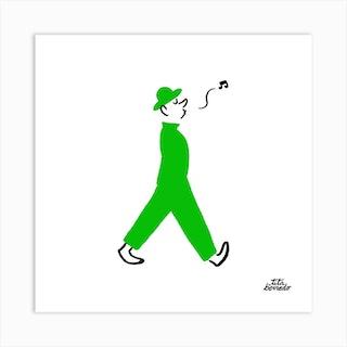 Whistle Man Square Art Print