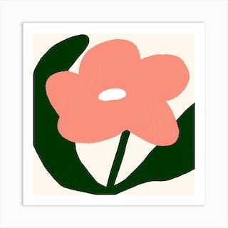 Pretty In Pink Square Art Print
