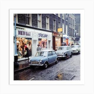 Carnaby Street, London. December 1965 Art Print