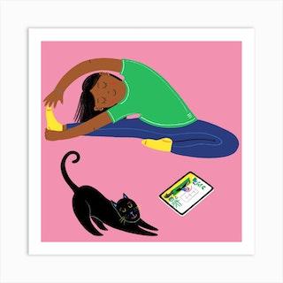 Yoga Girl Square Art Print
