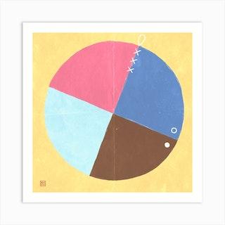 Four Parts Minimalist Mandala Art Print