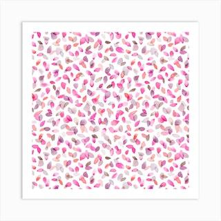 Petals Pink Square Art Print