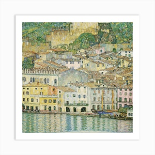 Malcesine on Lake Garda, 1913 by Gustav Klimt Art Print