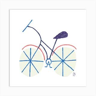 Bike 6 Square Art Print