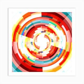 Orbicular Colours Square Art Print
