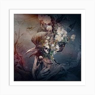 Raven Square Art Print