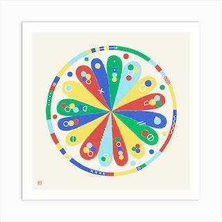 Meditative Flower Mandala Art Print