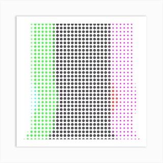 Dot Trip Square Art Print
