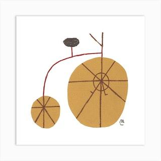 Bike 9 Square Art Print