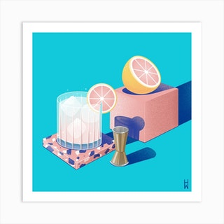 Gin And Tonic Square Art Print