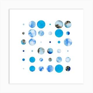 Codigo Blue White Square Art Print