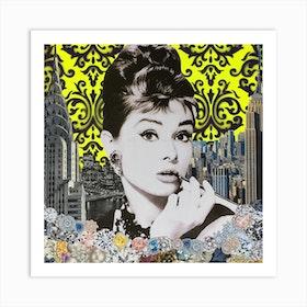 Audrey Yellow Art Print