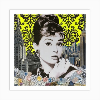 Audrey Yellow Art Print