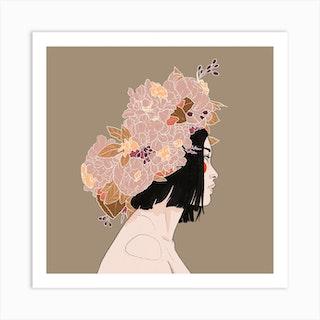 Flowercrown Art Print