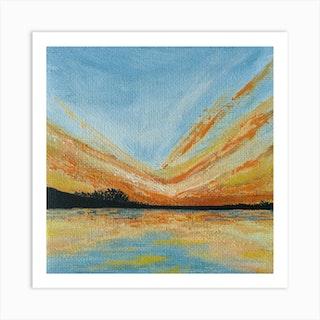 Marigold Sky Square Art Print