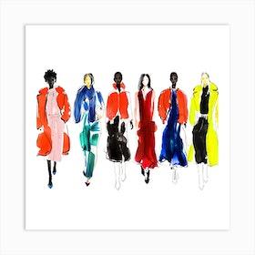 Ny Fashion Square Art Print