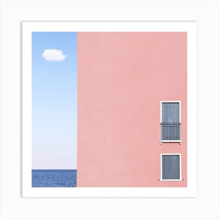 The House The Cloud The Sea Square Art Print